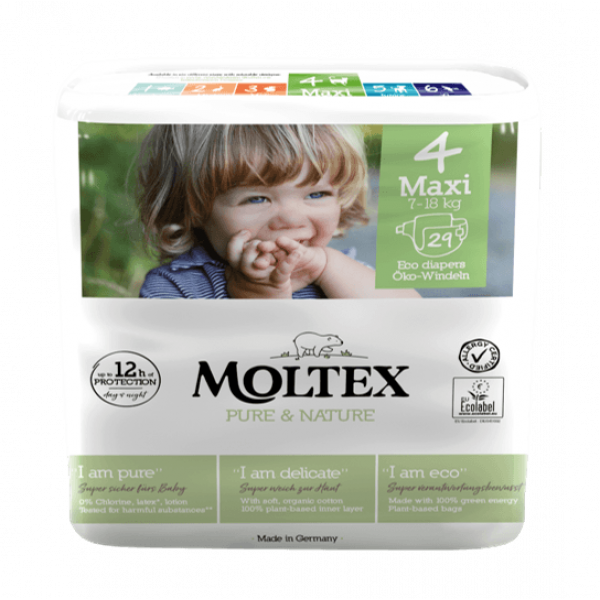 Moltex pure and nature Diapers Maxi 7-18 kg 29pcs