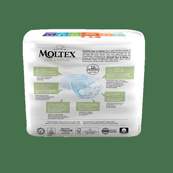 Moltex pure and nature Diapers Midi 4-9 kg 38pcs