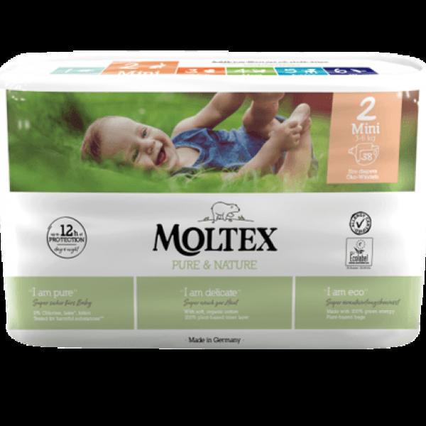 Moltex pure and nature Diapers Mini 3-6 kg 38pcs