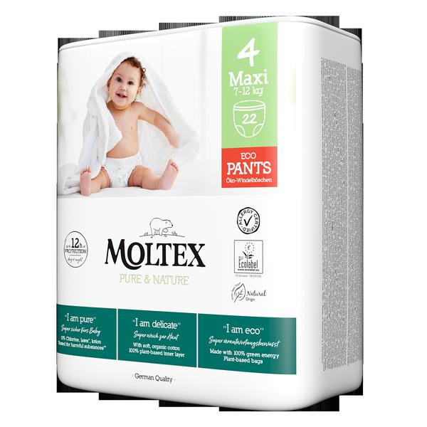 Moltex pure and nature diaper pants Maxi 7-12kg