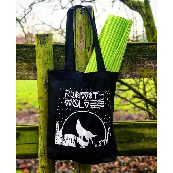 Run with Wolves organic tote bag