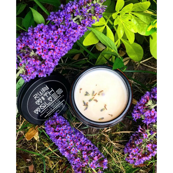 Natural soy wax candle - Green Lavender - 180 ml
