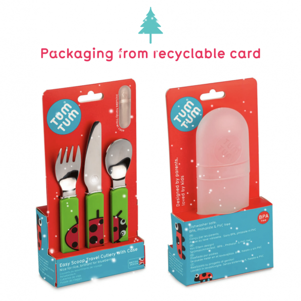 Easy Scoop Toddler Cutlery with Travel Case, Ladyb...