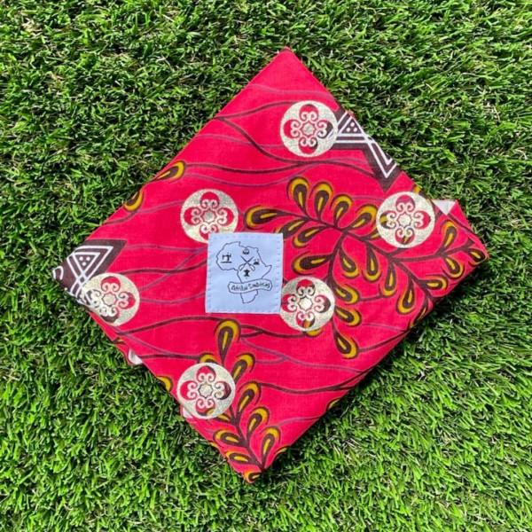 Washable napkin red gold
