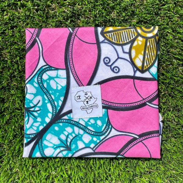Washable napkin pink blue