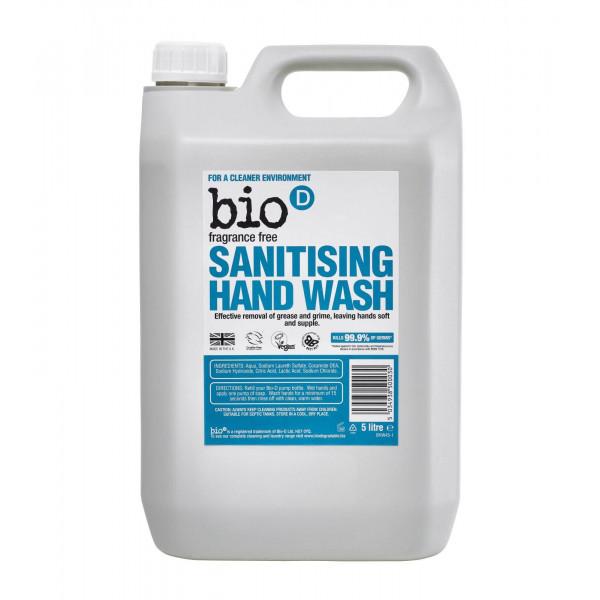Bio-D Sanitising Hand Wash Fragrance Free 5l