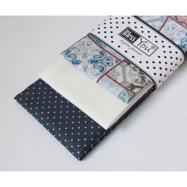 Handkerchiefs cement design Bless you, size S, 3 p...