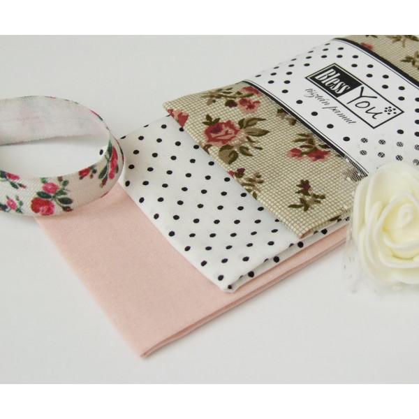 Handkerchiefs little roses Bless you, size S, 3 pc...
