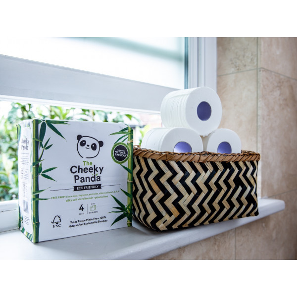 Plastic free toilet Paper 4 rolls (3ply, 200 sheets per roll) NEW