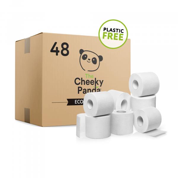 Plastic free toilet Paper 48 rolls (3ply, 200 shee...