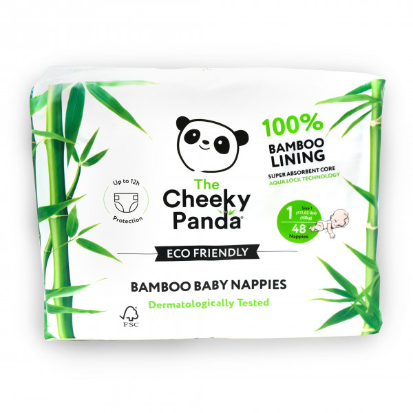 Eco Friendly Bamboo Baby Nappies size 1, 2-5kg (48...