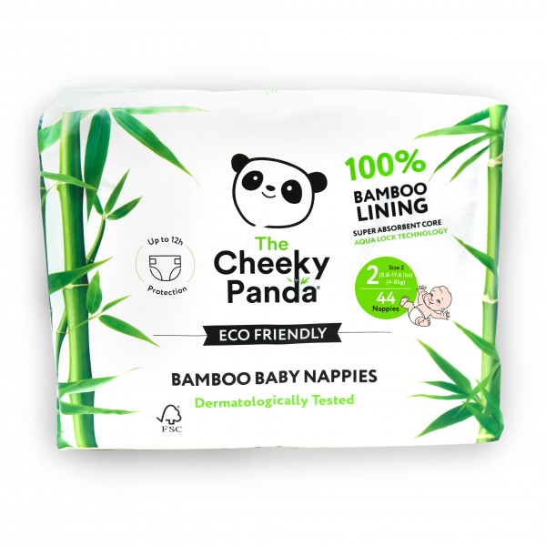Eco Friendly Bamboo Baby Nappies size 2, 3-8kg (44...