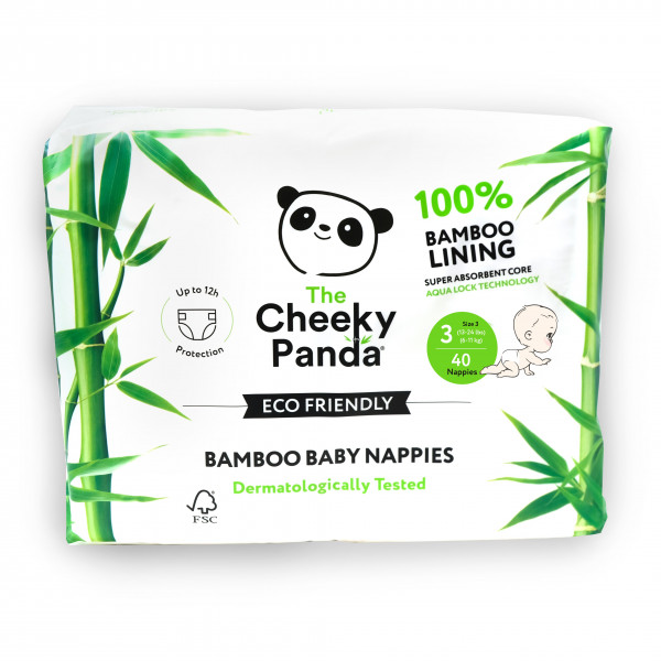 Eco Friendly Bamboo Baby Nappies size 3, 6-11kg (4...