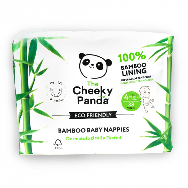 Eco Friendly Bamboo Baby Nappies size 4, 9-14kg (3...