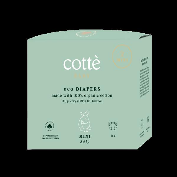 COTTÈ eco diapers mini (31pcs) PREMIUM DIAPERS ma...