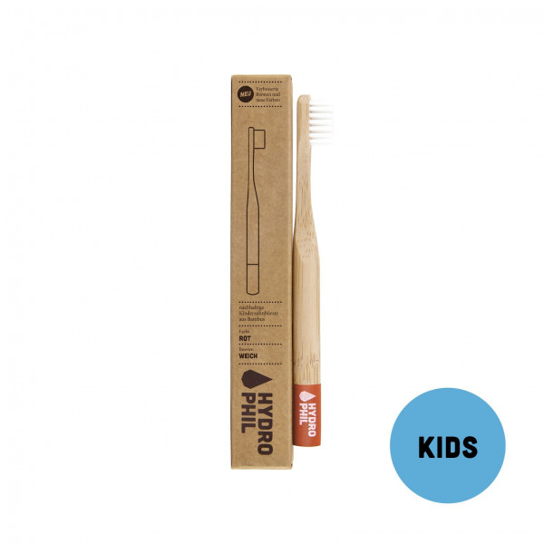 Sustainable toothbrush for kids - red extra soft 1...
