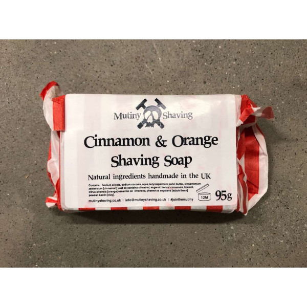 Cleaning and shaving soap cinnamon and orange