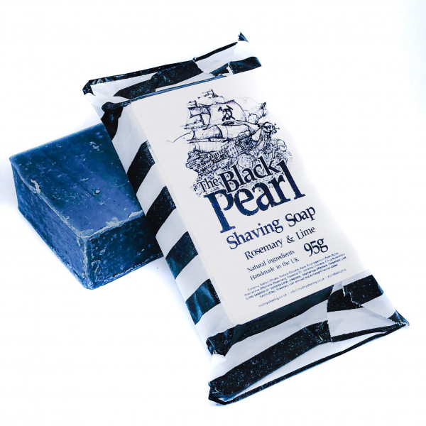 Black Pearl shaving soap rosemary and lime