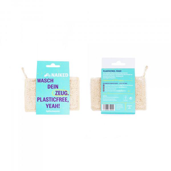 compostable loofah sponge 1pc