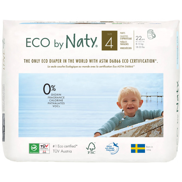 Eco by Naty by Nature Babycare Size 4 Eco Pull On ...