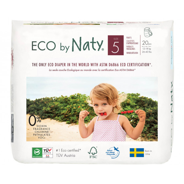 Eco by Naty  Size 5 ECO Pull On Pants, 20 Pants, 1...