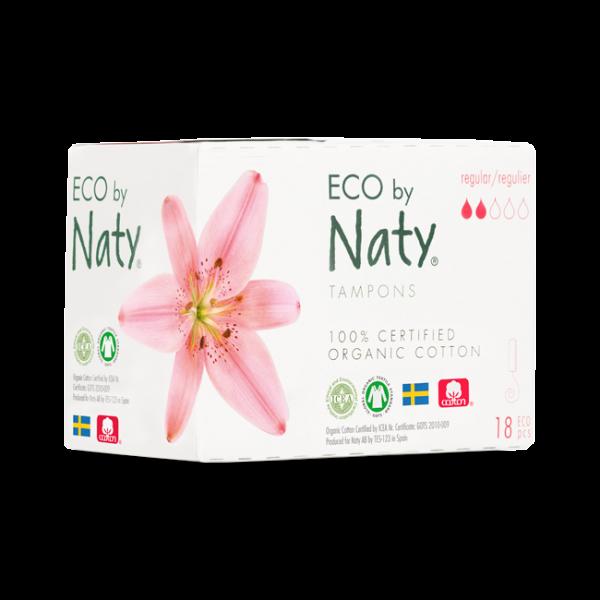 Naty Organic Cotton Normal Tampon, 18 pcs
