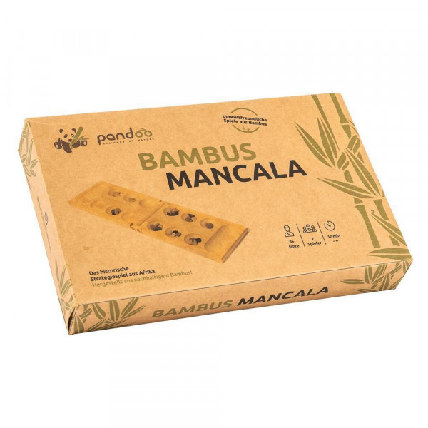 Mancala logikai játék bambuszból