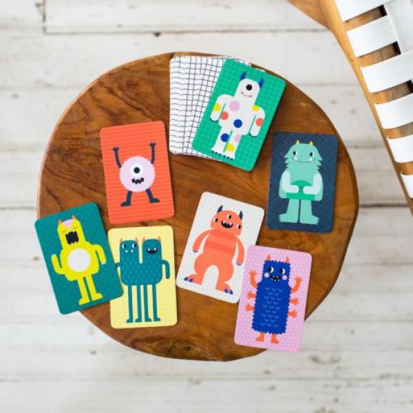 Petit Collage organic card game in metal box Monst...