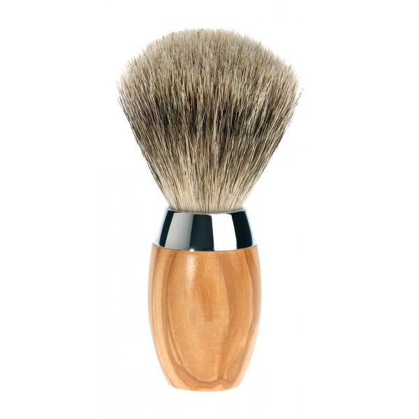 Olive wood shaving brush