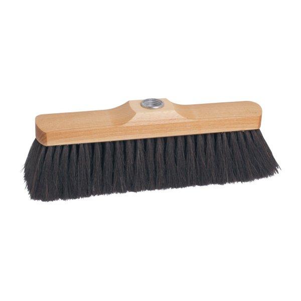 Wood and horsehair indoor broom 28 cm