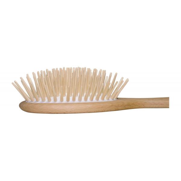 Wooden hairbrush for long hair