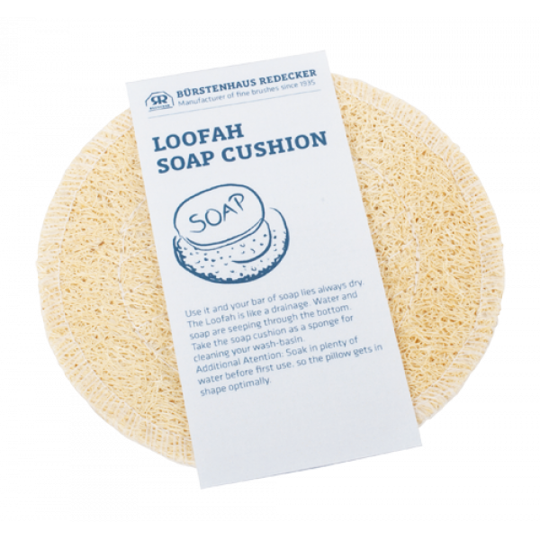 Loofah soap cushion round