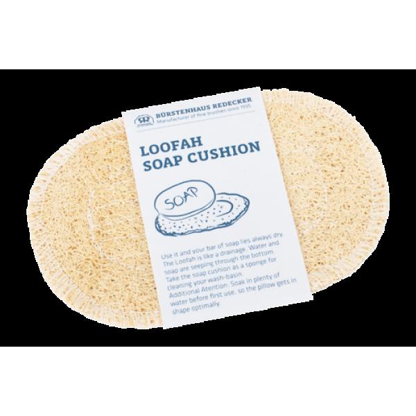 Loofah soap cushion oval