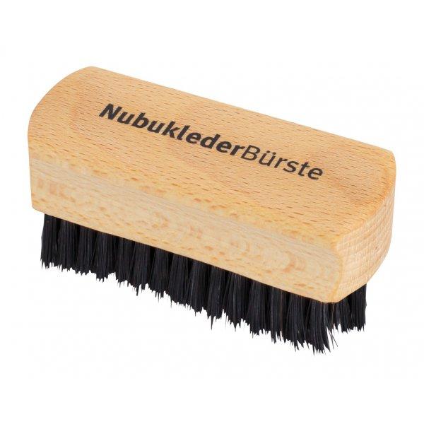 Nubuk leather brush