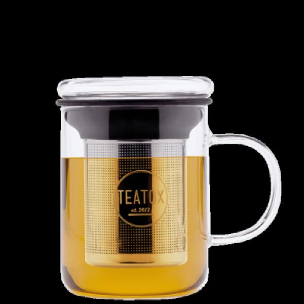Glass tea mug, 350 ml