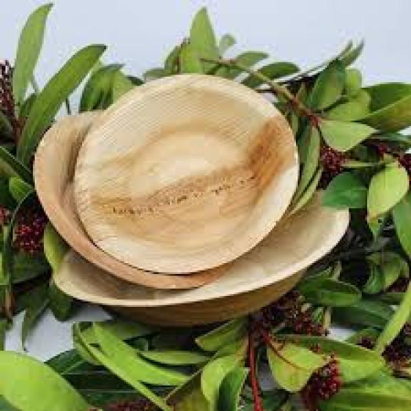 compostable palm leaves plates 25 pcs