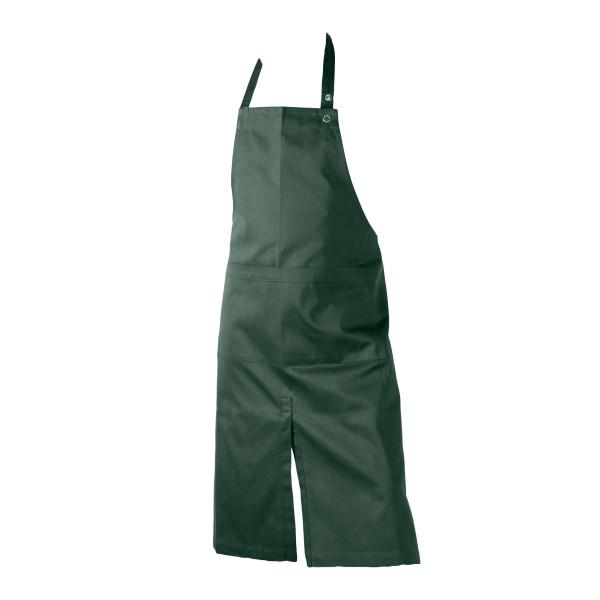 Apron with pocket, dark green