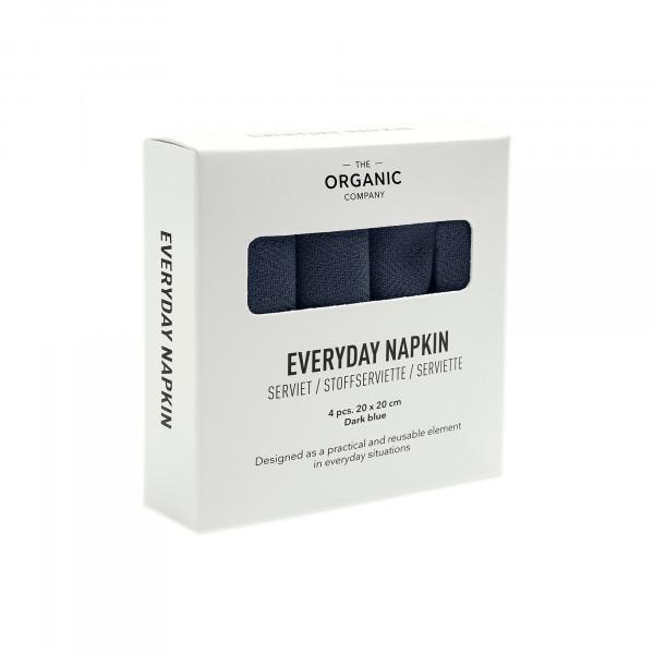 Everyday napkin 4pcs dark blue
