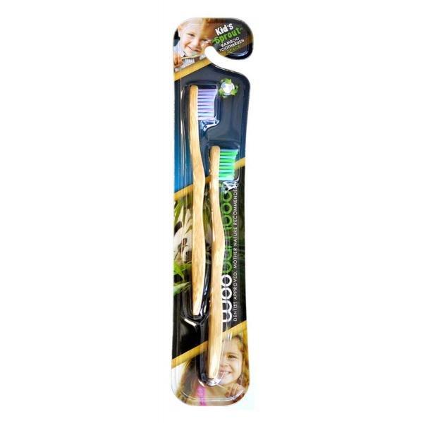 Woobamboo bamboo toothbrush children, 2 pcs