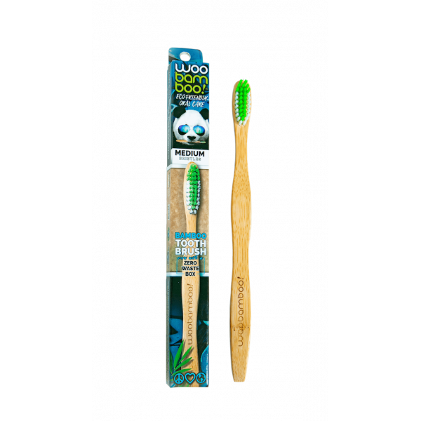 Woobamboo bamboo toothbrush adult medium in paper ...