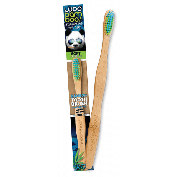 Woobamboo bamboo toothbrush adult soft in paper bo...