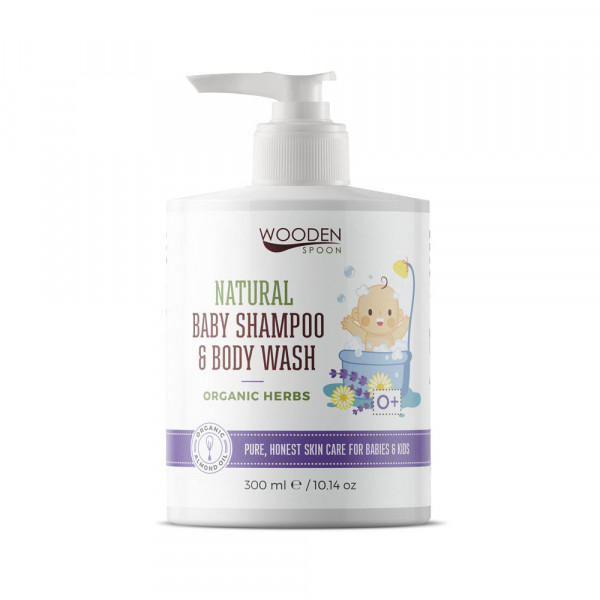 Baby shampoo and body wash with organic herbs 300m...