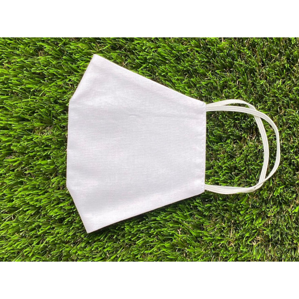 Cotton 2 Layer Face Mask white